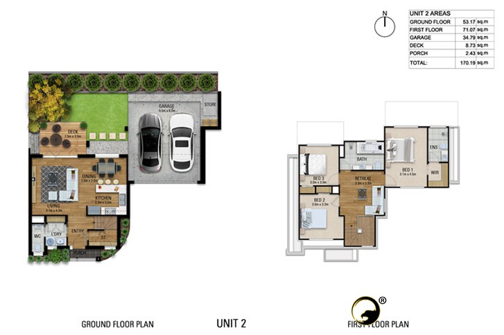 Floor Plan Unit 2